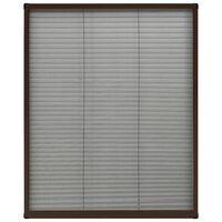 vidaXL Plisovaná okenní síť proti hmyzu hliník hnědá 60 x 80 cm