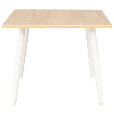vidaXL Konferenční stolek bílý a dubový odstín 120 x 60 x 46 cm