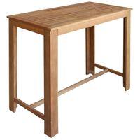 vidaXL Barový stůl z masivního akáciového dřeva 120 x 60 x 105 cm
