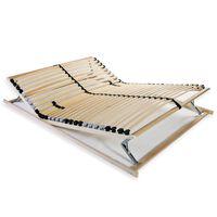 vidaXL Lamelový rošt postele s 28 lamelami 7 zón 120 x 200 cm