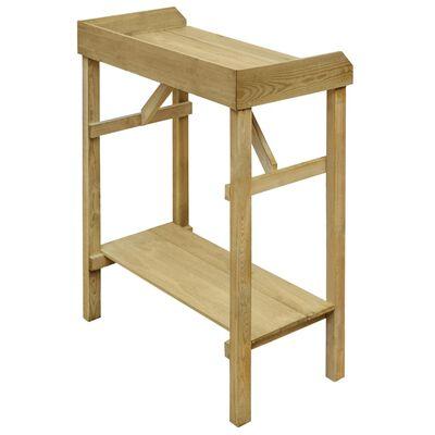 vidaXL Přesazovací stolek impregnovaná borovice 75 x 40 x 90 cm