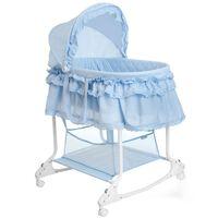 Little World Houpací košík 2 v 1 85x70x110 cm modrý LWFU002-LBL