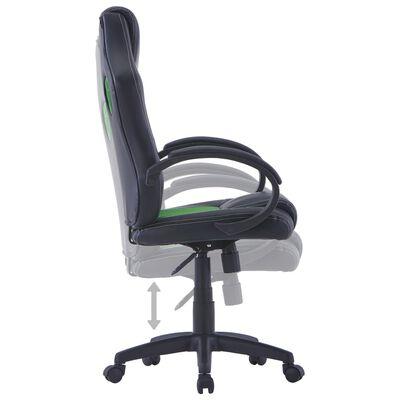 vidaXL Herní židle zelená umělá kůže