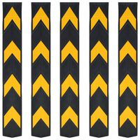 vidaXL Reflexní ochranné profily na rohy 5 ks gumové 80 cm