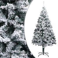 vidaXL Umělý vánoční stromeček zasněžený zelený 240 cm PVC