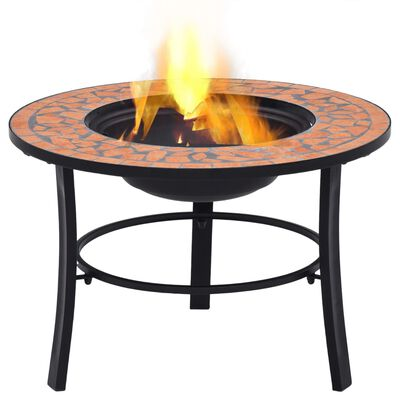 vidaXL Mozaikové ohniště terakotové 68 cm keramika