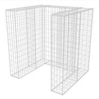 vidaXL Gabionová zástěna pro 1 popelnici ocelová 110 x 100 x 120 cm