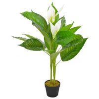 vidaXL Umělá rostlina toulitka s květináčem bílá 90 cm