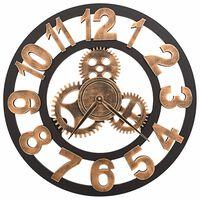 vidaXL Nástěnné hodiny kovové 58 cm zlato-černé