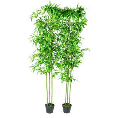 Umělé bambusové stromy 6 ks