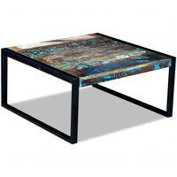 vidaXL Konferenční stolek masivní recyklované dřevo 80 x 80 x 40 cm