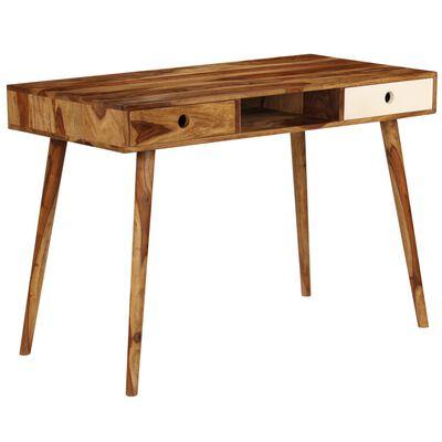 vidaXL Psací stůl z masivního sheeshamového dřeva 110 x 55 x 76 cm
