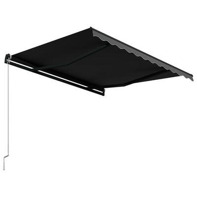 vidaXL Ručně zatahovací markýza 300 x 250 cm antracitová