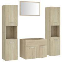 vidaXL Set koupelnového nábytku dub sonoma dřevotříska