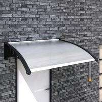 vidaXL Vchodová stříška 120 x 100 cm polykarbonát