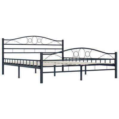 vidaXL Rám postele černý ocel 200 x 200 cm