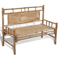 vidaXL Zahradní lavice 120 cm bambusová