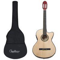vidaXL 12dílný folkový kytarový set s ekvalizérem a 6 strunami