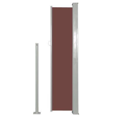 vidaXL Zatahovací boční markýza / zástěna 140 x 300 cm hnědá