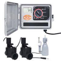 vidaXL Zavlažovací počítač dešťový senzor elektromagnetický ventil