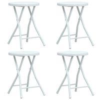 vidaXL Skládací zahradní stoličky 4 ks bílé HDPE ratanový vzhled