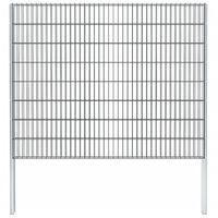 vidaXL 2D gabion plot pozinkovaná ocel 2,008x1,63 m 6m (celková délka)