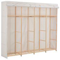 vidaXL Šatní skříň bílá 200 x 40 x 170 cm textil