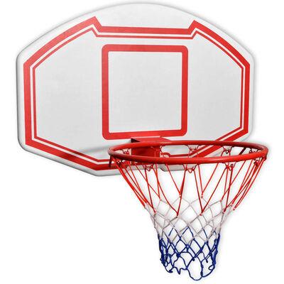 vidaXL Třídílná sada nástěnného basketbalového koše s deskou 90x60 cm