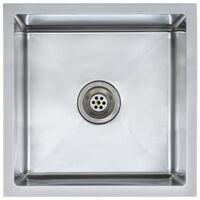 vidaXL Ručně vyrobený kuchyňský dřez se sítkem nerezová ocel