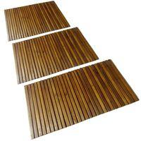 vidaXL Koupelnová předložka 3 ks 80 x 50 cm akáciové dřevo