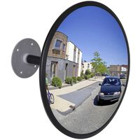 Dopravní zrcadlo z akrylu černé 30 cm