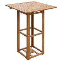 vidaXL Bistro stolek 75 x 75 x 110 cm masivní akáciové dřevo