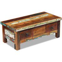 vidaXL Konferenční stolek zásuvky masivní recyklované dřevo 90x45x35cm