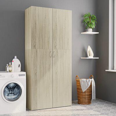 vidaXL Úložná skříň dub sonoma 80 x 35,5 x 180 cm dřevotříska