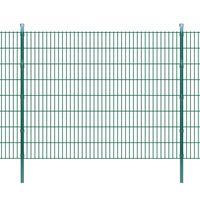 vidaXL 2D zahradní plotové dílce a sloupky 2008x1630 mm 8 m zelené