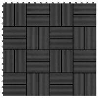 vidaXL 22 ks terasové dlaždice 30 x 30 cm 2 m² WPC černé