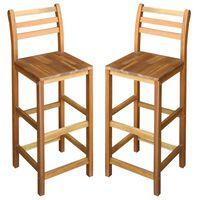 vidaXL Barové židle 2 ks masivní akáciové dřevo