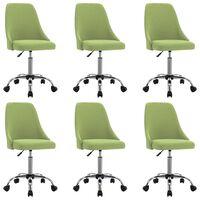 vidaXL Jídelní židle 6 ks zelené textil