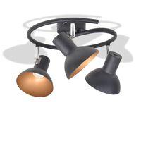 vidaXL Stropní svítidlo pro 3 žárovky E27, černo-zlatá
