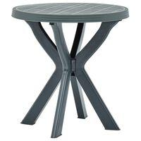 vidaXL Bistro stolek zelený Ø 70 cm plast
