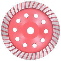 vidaXL Diamantový brusný talíř turbo 180 mm