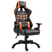 vidaXL Herní židle oranžová umělá kůže