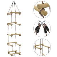 vidaXL Dětský provazový žebřík 200 cm dřevo