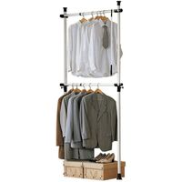 SoBuy FRG109 Teleskopický šatní systém, tyče na oblečení, systém polic