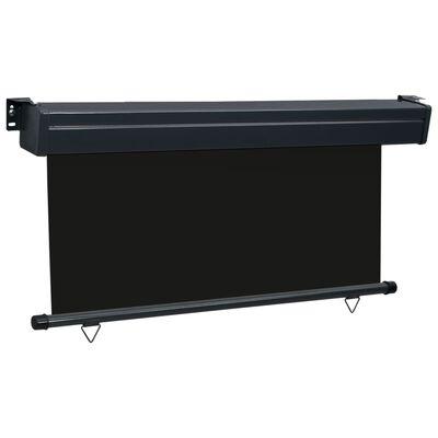 vidaXL Balkonová zástěna 160 x 250 cm černá