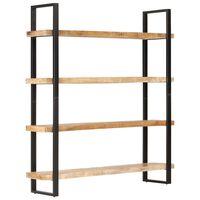 vidaXL 4patrová knihovna 160 x 40 x 180 cm hrubé mangovníkové dřevo