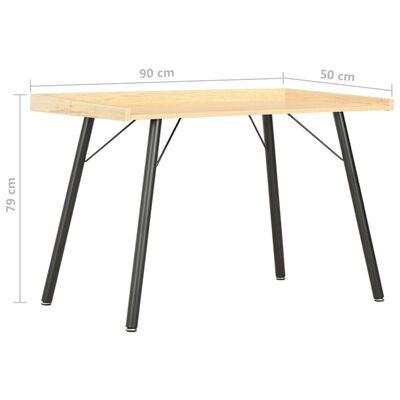 vidaXL Psací stůl dubový 90 x 50 x 79 cm