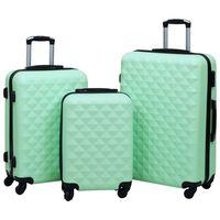vidaXL Sada skořepinových kufrů na kolečkách 3 ks mátová ABS