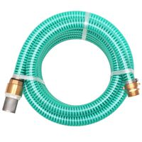 vidaXL Sací hadice s mosaznými konektory 4 m 25 mm zelená