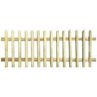 vidaXL Laťkový plot impregnovaná borovice 170 x 100 cm 5/7 cm